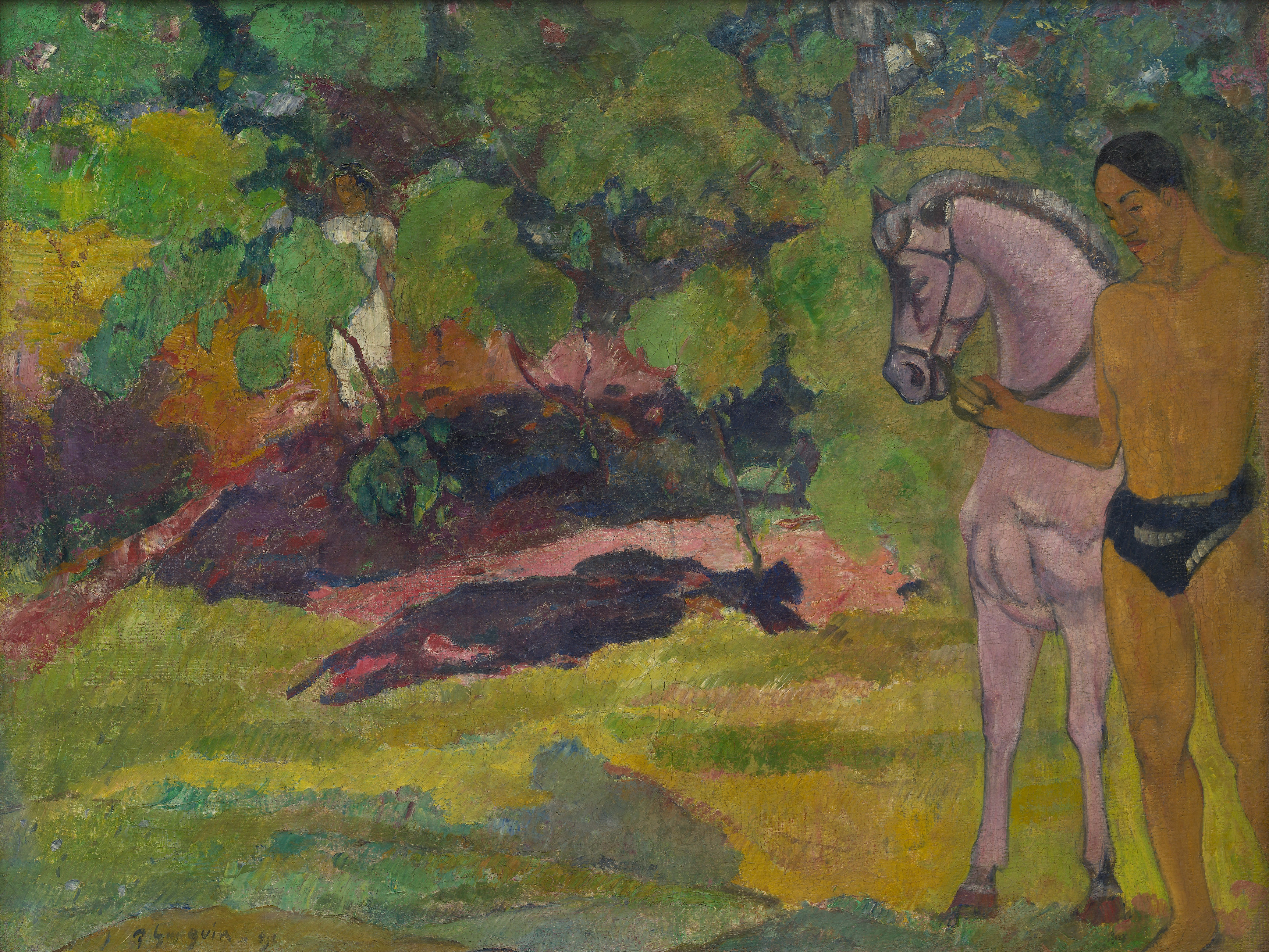 In the Vanilla Grove, Man and Horse