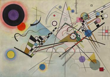 Vasily Kandinsky, Composition 8 (Komposition 8), juillet 1923. Huile sur toile, 140 x 201 cm.
