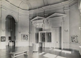 The first-ever showing of Solomon Guggenheim's collection of nonobjective art, curated by Hilla Rebay, Gibbes Memorial Art Gallery (now Gibbes Museum of Art), Charleston, South Carolina, 1936