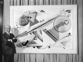 Solomon Guggenheim with Rudolf Bauer's White Fugue, 1923–27
