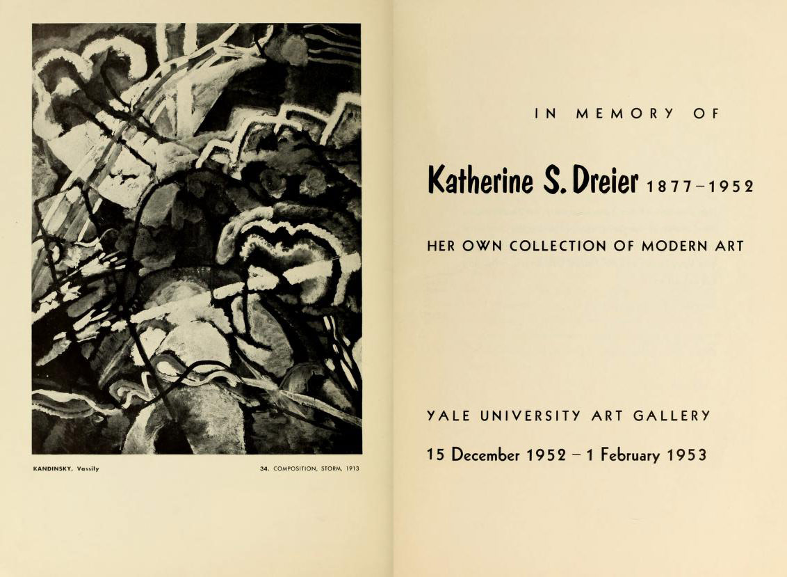 b6c97b1b8477e The title page of the catalogue for Dreier s memorial exhibition