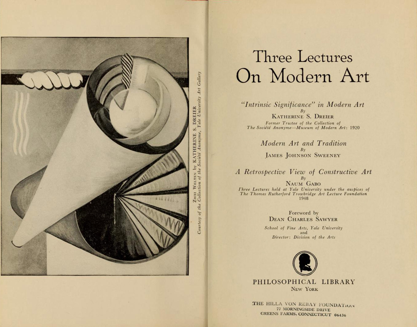 d92ea0555cac7 The title page of the publication Three Lectures on Modern Art  (Philosophical Library